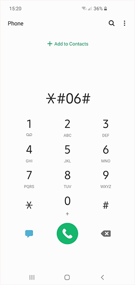 Dial *#06#